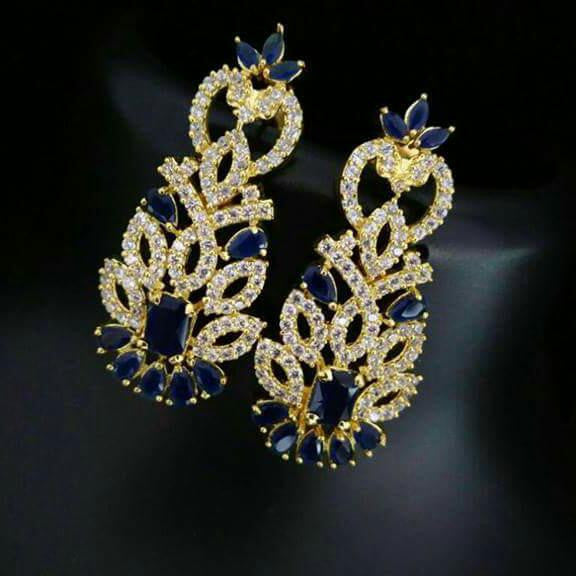 at dp atoot prices buy low online zerkan blue stone studded earrings in
