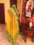 Yellow Lehenga with Lemon Green dupatta