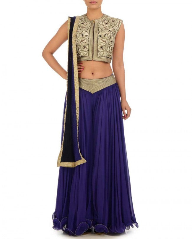 Irish blue color sharara