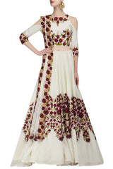 Ivory Color Lehenga Choli in Resham Embroidery