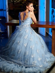 Sky blue color Indo Western gown