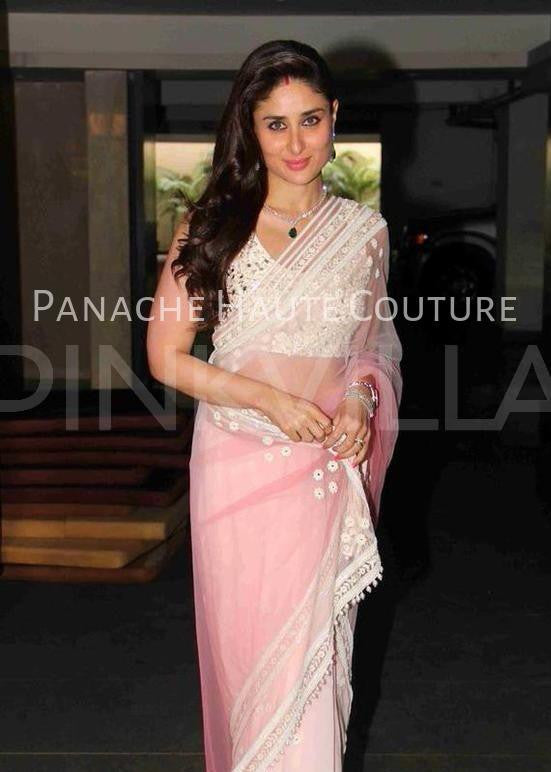 Kareena Kapoor in Pink Shaded Designer Saree online