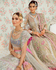 Kora and Pink Color Wedding Lehenga