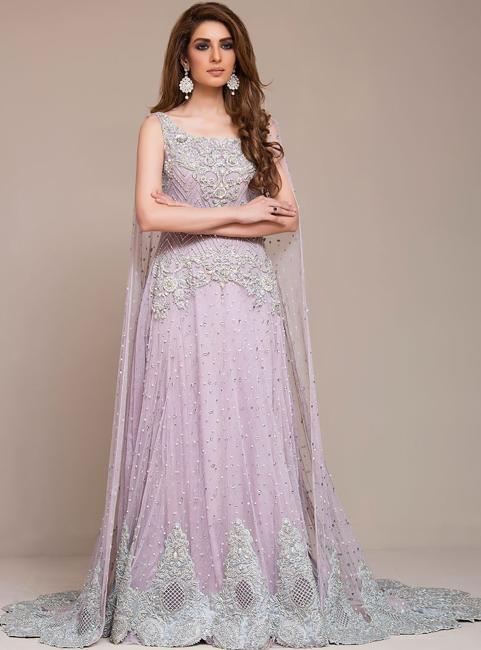 Lavender Color Wedding Gown