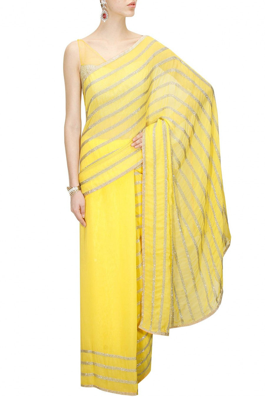 Yellow Embellished Sari