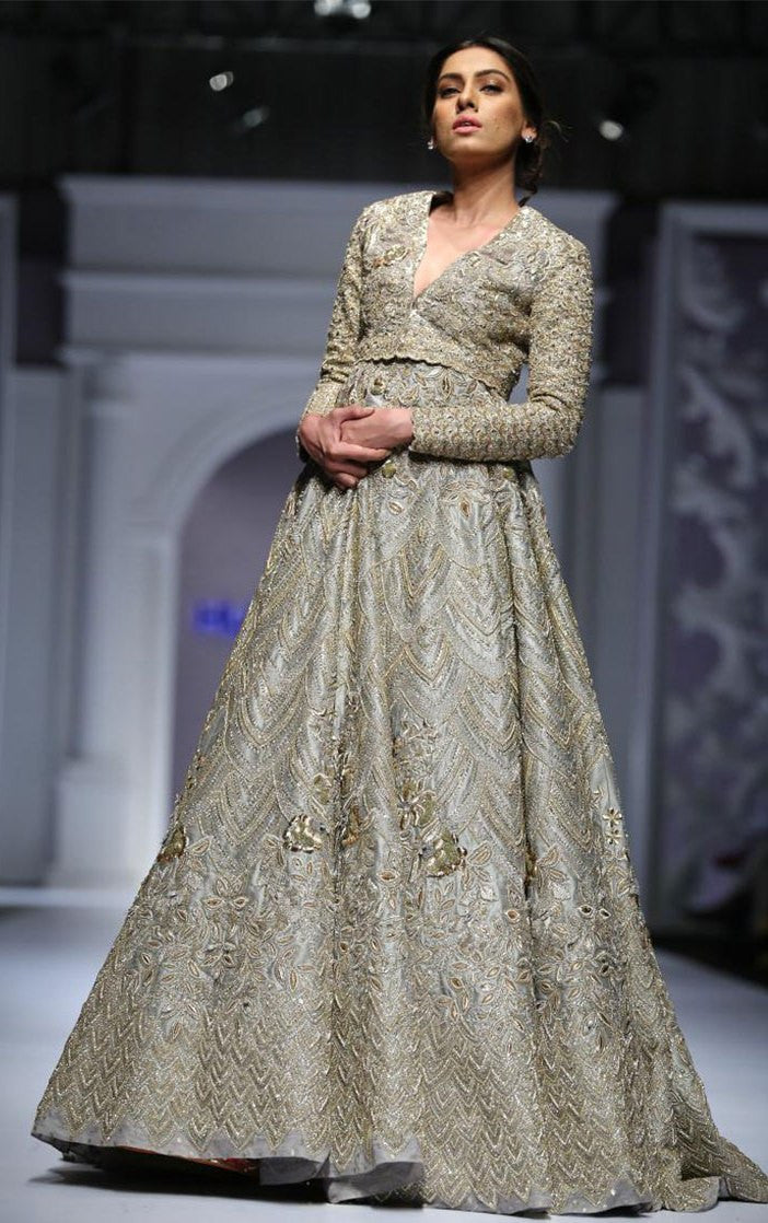 Light Grey Color Designer Lehenga Choli