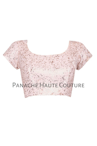 Light Pink color Blouse with Sequin Embroidery