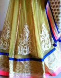 Beautiful lemon yellow color lehenga saree
