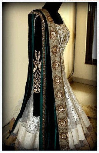 Offwhite Mughal Insprired Anarkali