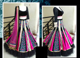 Mughal collection Black and pink lehenga