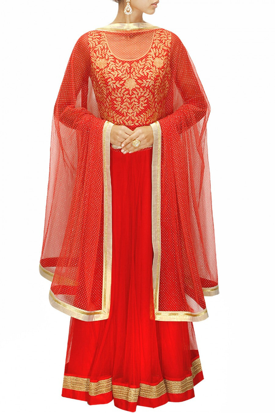 Pink colour floor length anarkali gown