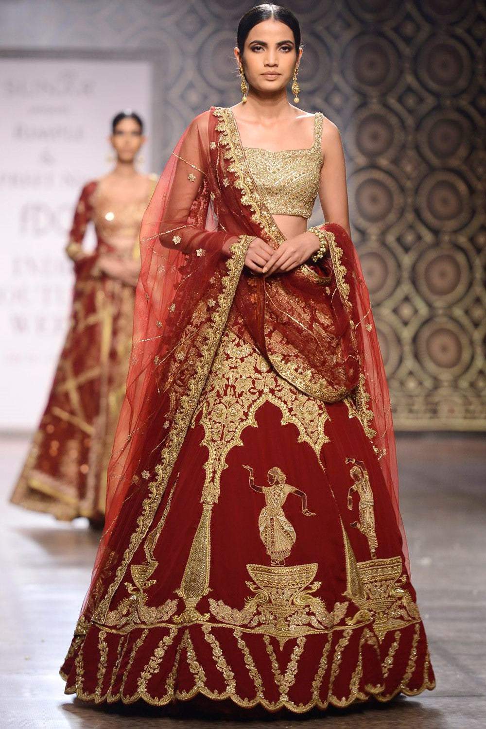Maroon Colour Raw silk lehenga choli