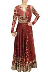 Floral Anarkali Floor Length