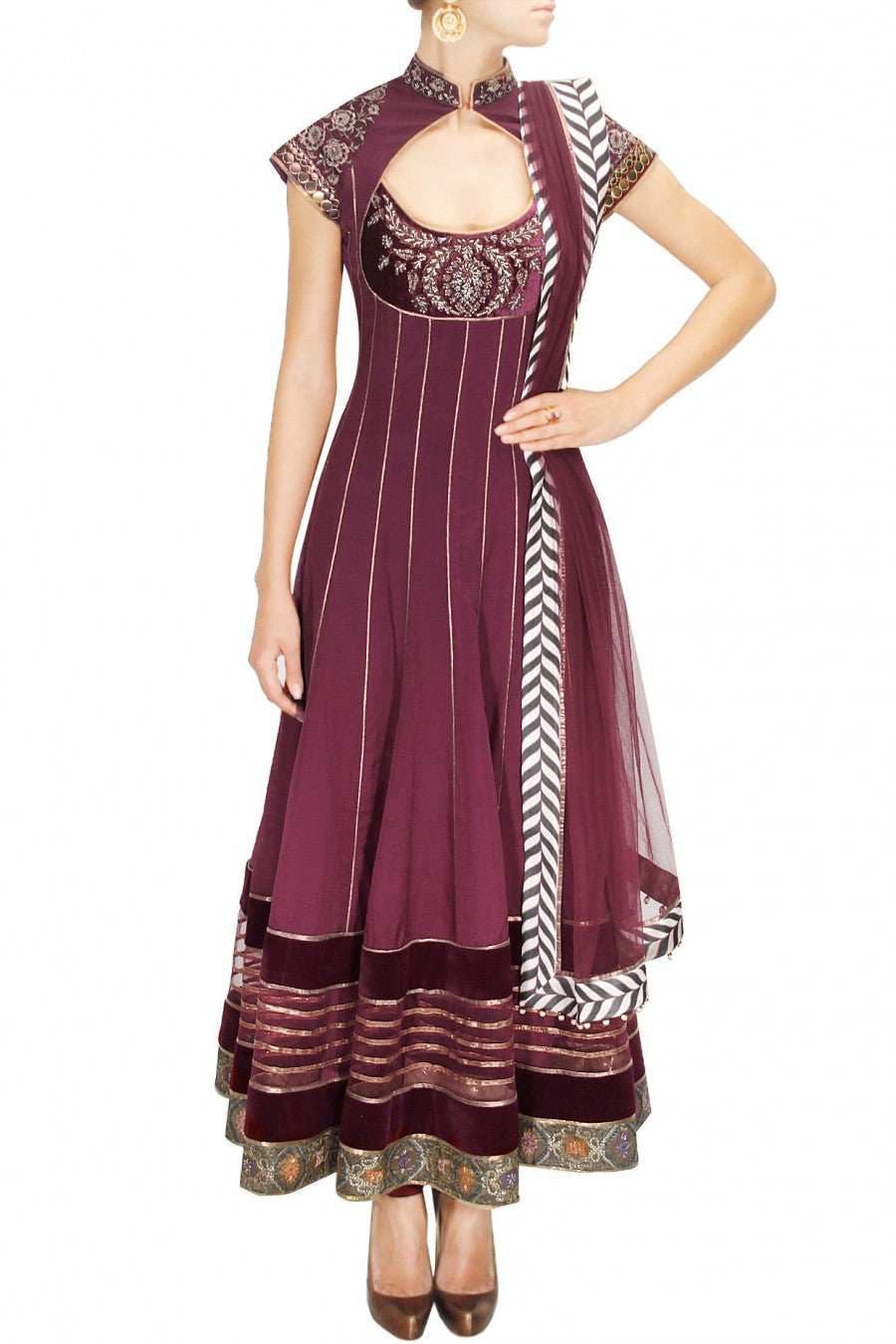 Maroon Color Anarkali Suit