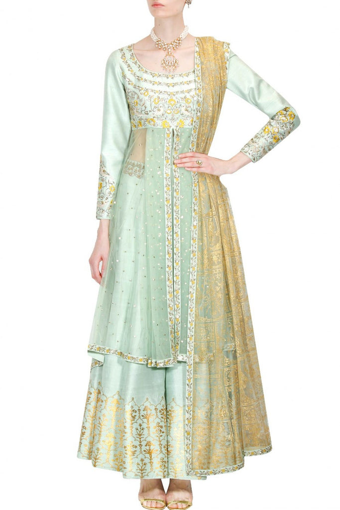 Mint Green Sharara Set