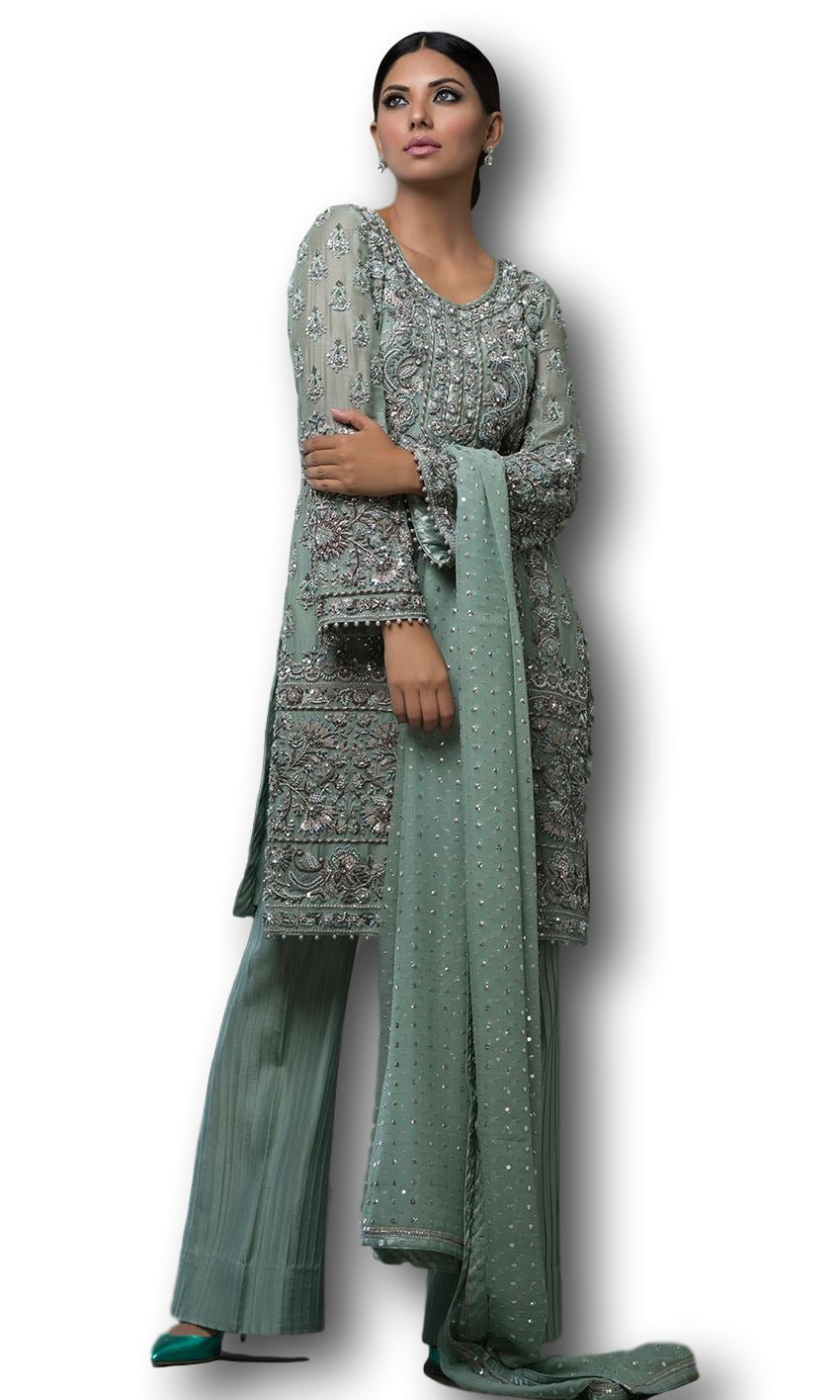 Mint Color Designer Suit