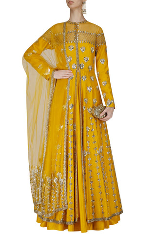 Mustard Yellow Jacket Lehenga