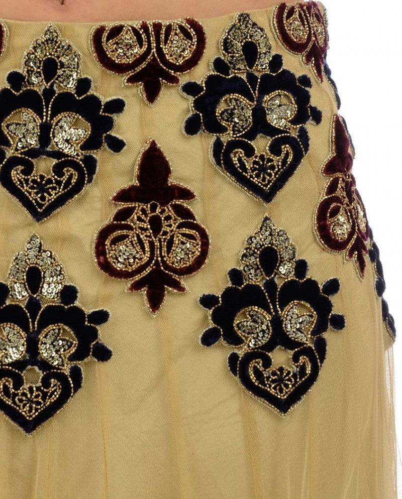 beige color lehenga choli