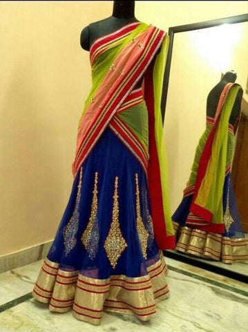 Royal Blue party wear lehenga choli