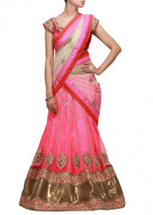 Party wear lehenga choli in Pink color