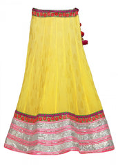 Party wear lehenga choli in yellow color