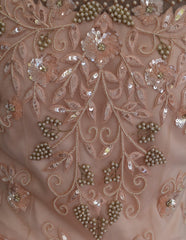 Peach Hues 3D Flower Gown by Panache Haute Couture