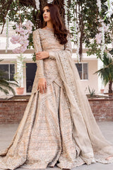 Peach Color Kundan Work Wedding Lehenga