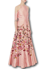 Peach Colour Anarkali Gown