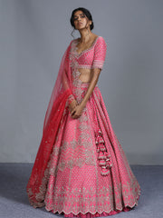 Pink Color Wedding Lehenga Choli