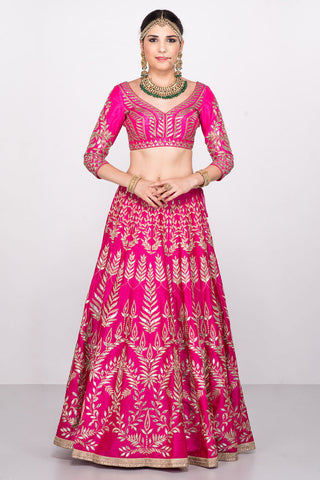 Pink Colour Gotta Patti Lehenga Choli