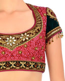 Pink colour bridal lehenga choli