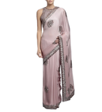 Pink Colour Designer Saree in Satin