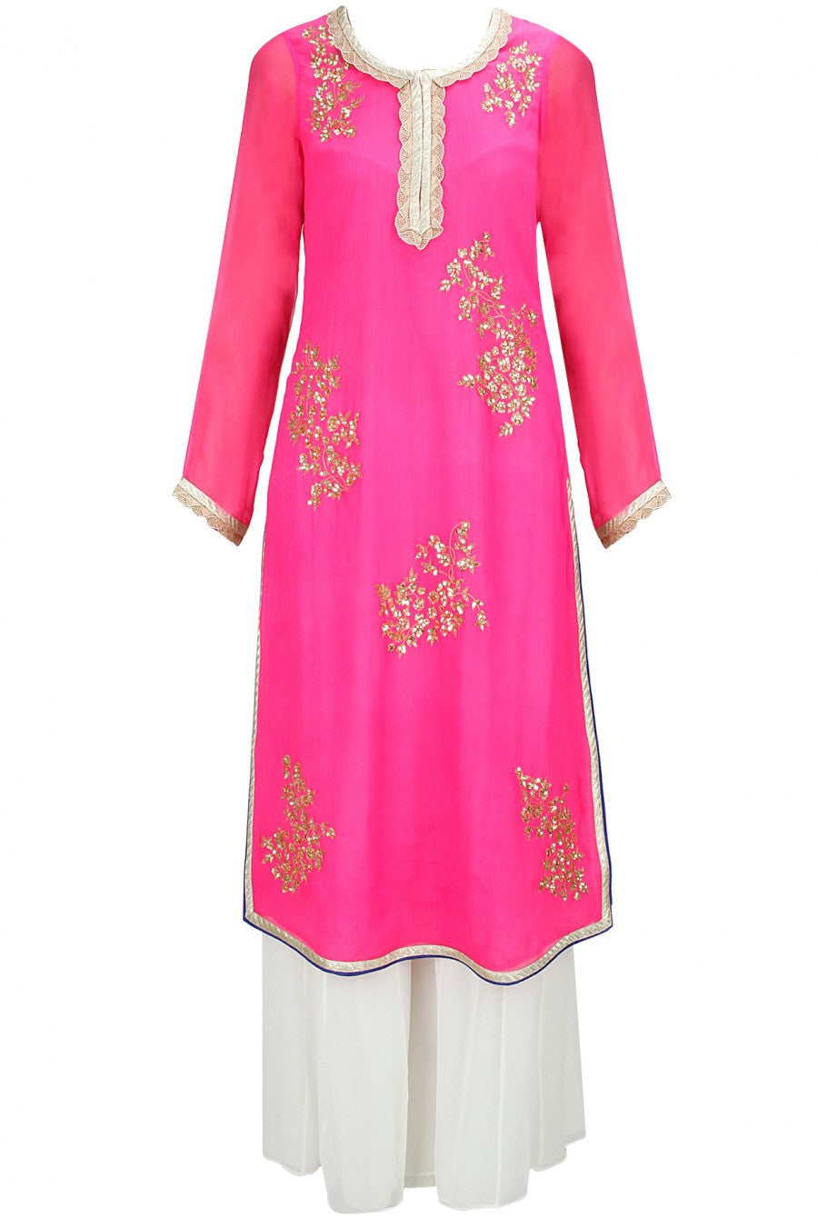 Pink Pakistani Suit with Plazzo Pant