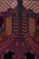 Purple Wine color Indo Western Gown