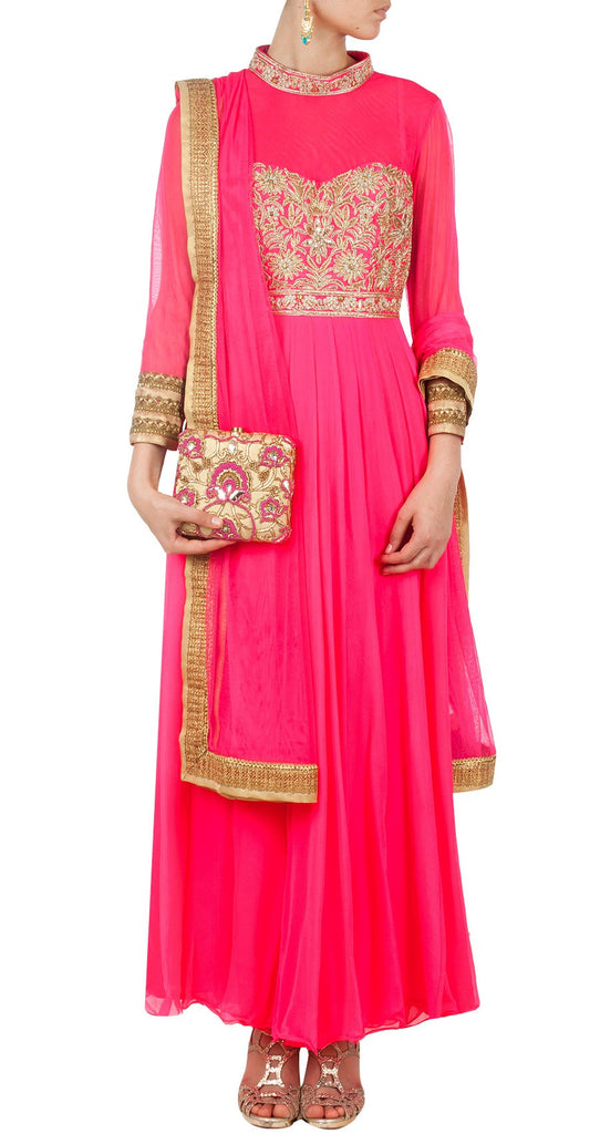 Dark Pink Long Anarkali
