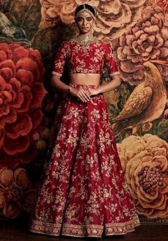 7266d7a83 Red Color Bridal Lehenga Choli from Sabyasachi Collection – Panache ...