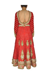 Red color Bridal Wear Anarkali