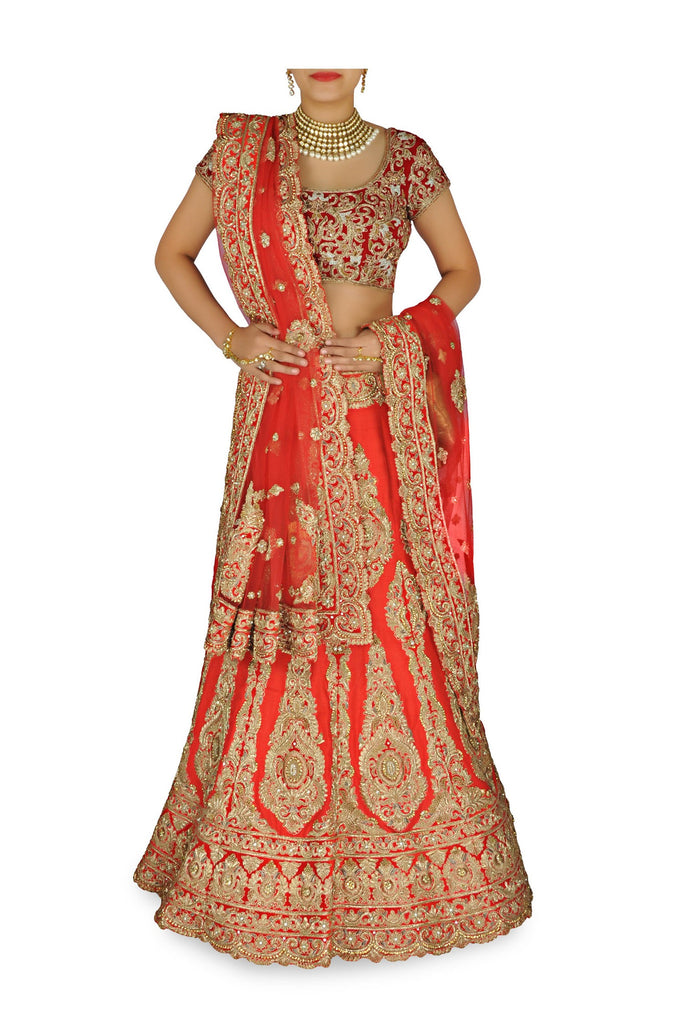 Red color wedding lehenga choli