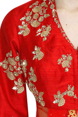Red Colour Sharara Set