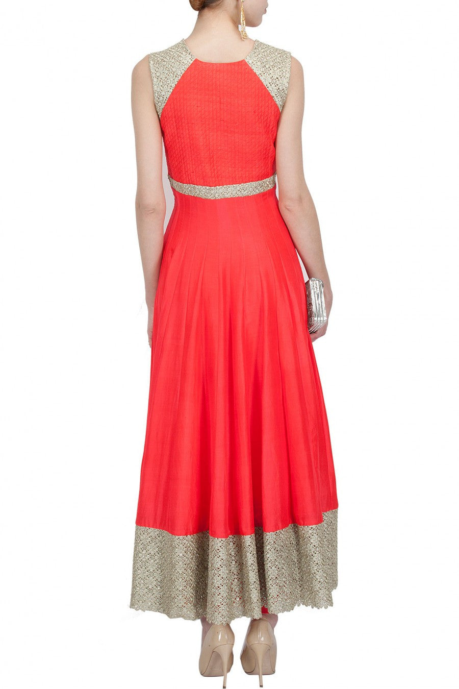 Red anarkali salwar kameez