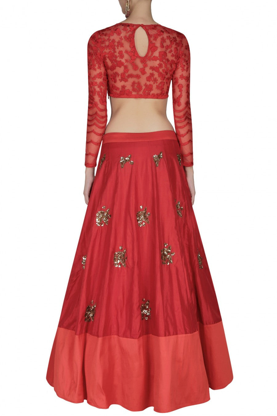 Red colour lehenga choli