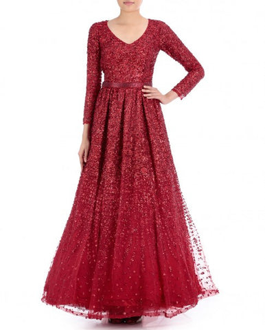 Red Color Indo Western Gown