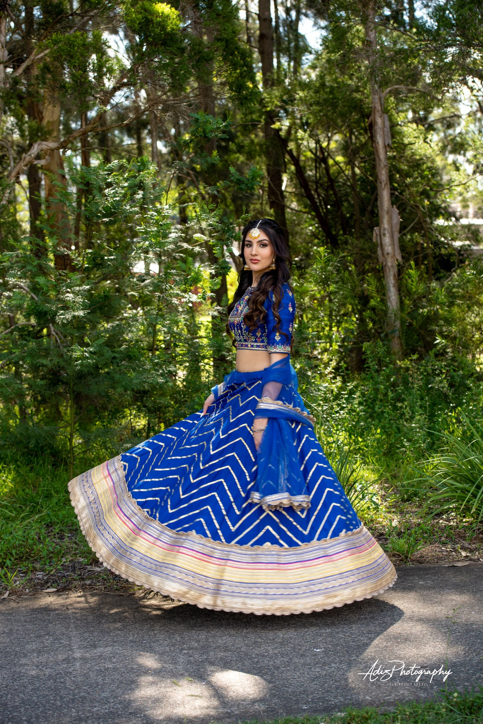Royal Blue Lehenga Set from Gamila Collection