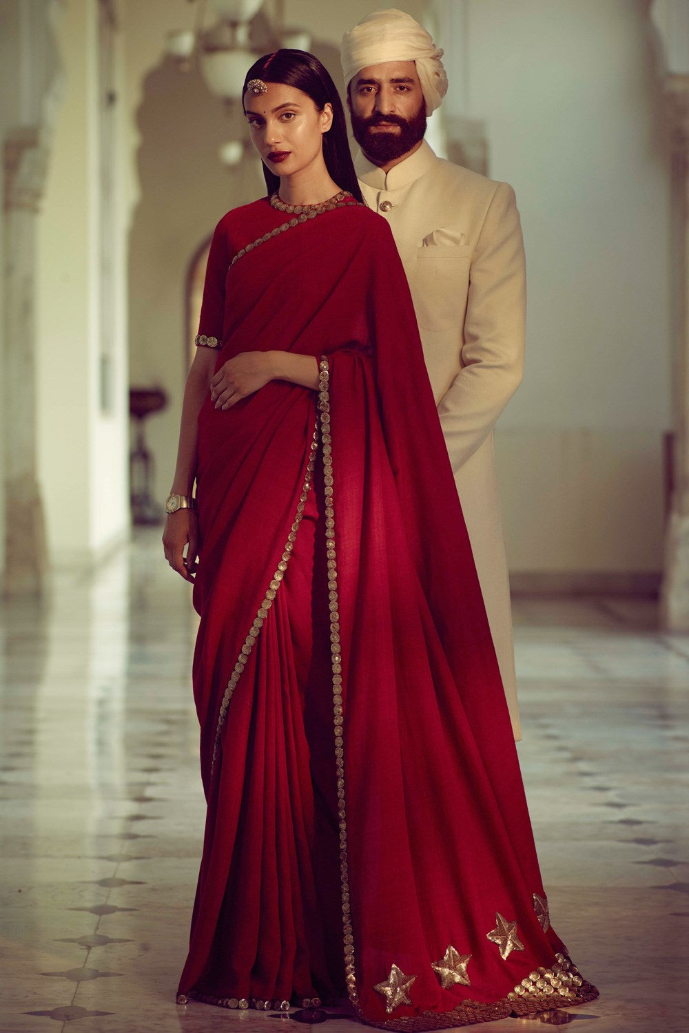 Red Maroon Matka Silk Saree