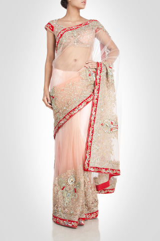 Blush Color Designer Saree