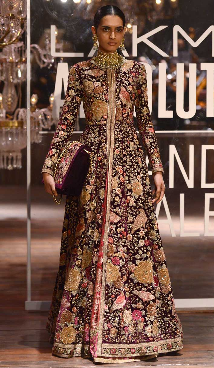 Deep Navy Blue Color Wedding Jacket Lehenga