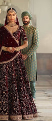 Sabyasachi Inspired Green Color Embroidered Sherwani