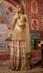 Ivory Color Wedding Sharara in USA and Australia