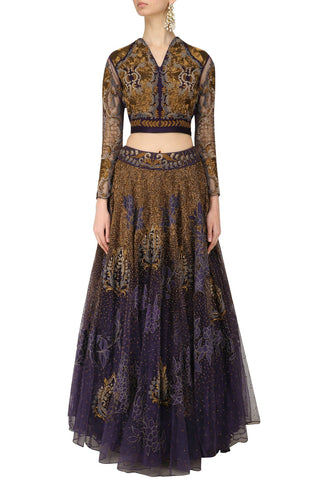 Voilet color Lehenga Choli