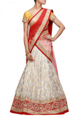 White color Party wear lehenga choli